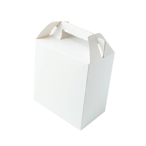 Caixa Sacolinha S2 (14cm x 11cm x 6cm) Branca 10 unidades Assk Rizzo Confeitaria