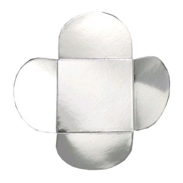 Forminha para Doces 4 Pétalas (3,5cm x 3,5cm x 2,5cm) Prata 50 unidades Assk Rizzo Confeitaria