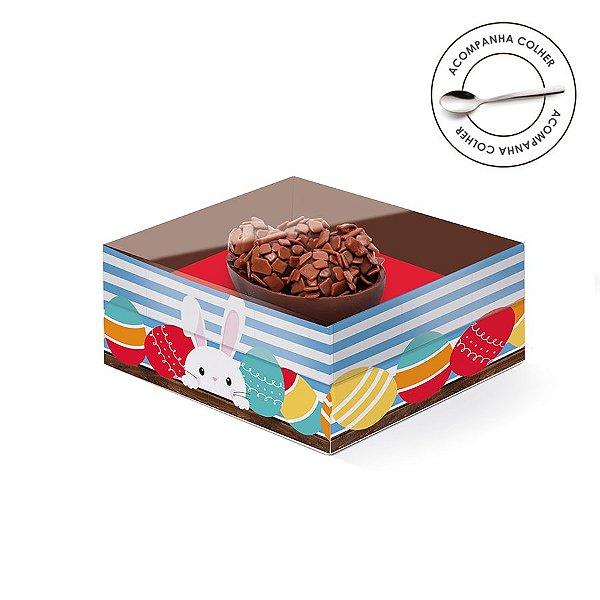 Caixa Meio Ovo de Colher 50g New Practice Adoleta - 6 unidades - 11,5cmx9cmx5,5cm - Cromus Páscoa - Rizzo Confeitaria