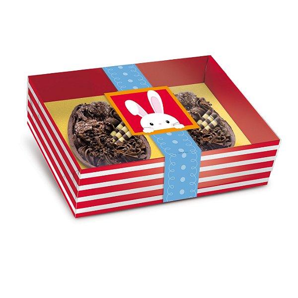 Caixa Dois Meio Ovo de Colher 50g New Practice Adoleta - 6 unidades - 14,5cmx11cmx4cm - Cromus Páscoa - Rizzo Confeitaria