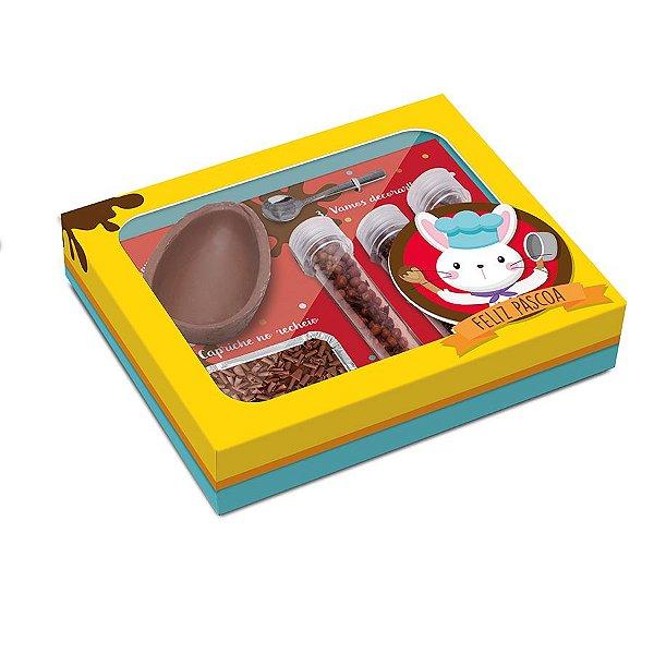 Caixa Kit Confeiteiro para Ovo 150g Páscoa Mestre Cuca - 24cmx19,5cmx5cm - Cromus Páscoa - Rizzo Confeitaria