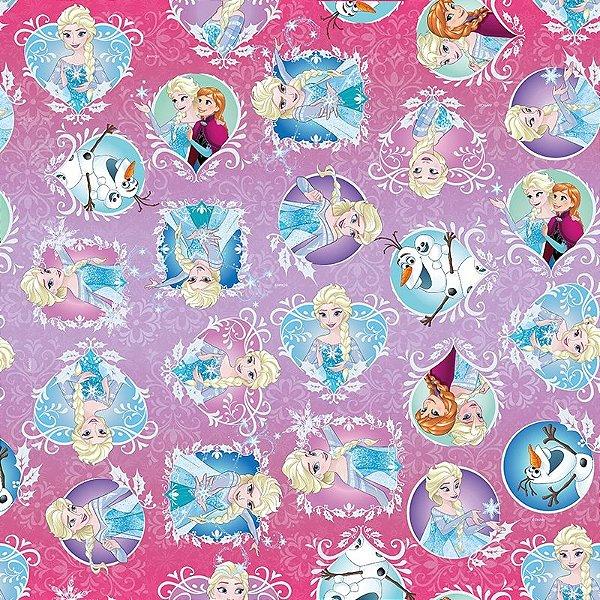 Folha para Embalar Ovos de Páscoa Frozen Aventura Congelante 69x89cm - 05 unidades - Cromus Páscoa - Rizzo Confeitaria