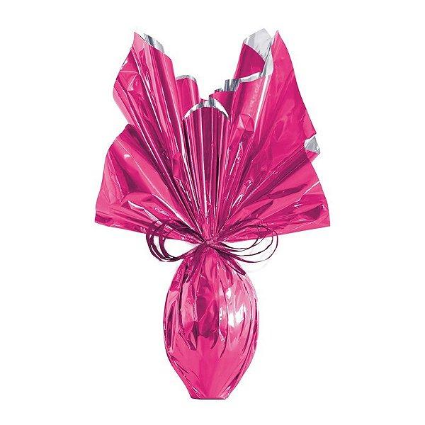 Folha para Embalar Ovos de Páscoa Metalizado Pink 69x89cm - 05 unidades - Cromus Páscoa - Rizzo Confeitaria