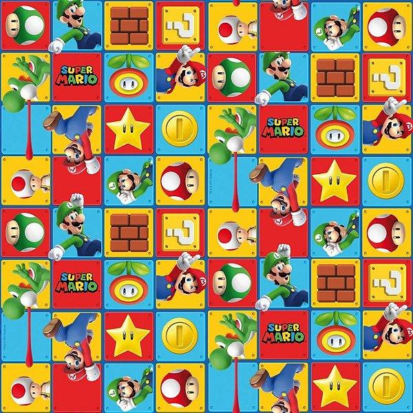 Folha para Embalar Ovos de Páscoa Super Mario 69x89cm - 05 unidades - Cromus Páscoa - Rizzo Confeitaria