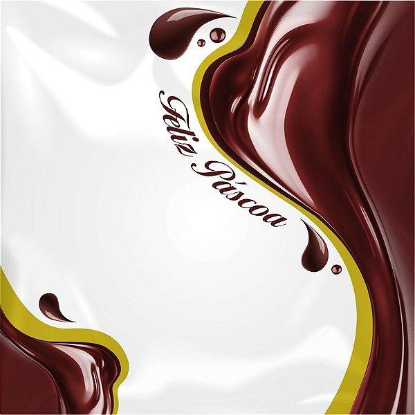 Saco Express para Ovos de 250g a 350g - 35cm x 35cm - Chocolícia - 05 unidades - Cromus Páscoa - Rizzo Confeitaria