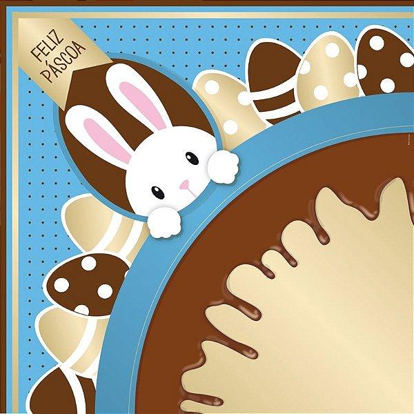 Saco Express para Ovos de 250g a 350g - 35cm x 35cm - Chocopascoa Azul - 05 unidades - Cromus Páscoa - Rizzo Confeitaria