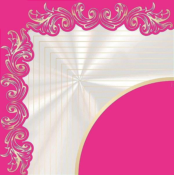 Saco Express para Ovos de Coração de - 250g a 350g  - 37,5cm x 37,5cm - Astral Pink - 05 unidades - Cromus Páscoa - Rizzo Confeitaria