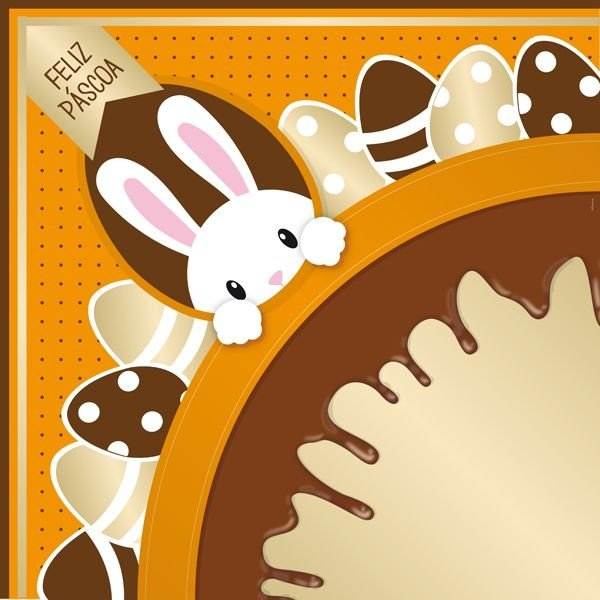 Saco Express para Ovos de 750g a 1Kg  - 49cm x 49cm - Chocopascoa Laranja - 05 unidades - Cromus Páscoa - Rizzo Confeitaria