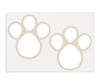 Etiqueta Adesiva de Páscoa Pegadas GG Branco com 2 cartelas Cromus Páscoa Rizzo Confeitaria