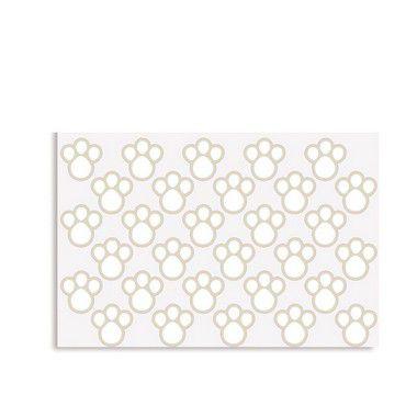 Etiqueta Adesiva de Páscoa Pegadas P Branco com 2 cartelas Cromus Páscoa Rizzo Confeitaria