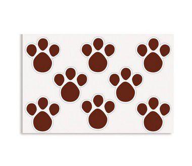 Etiqueta Adesiva de Páscoa Pegadas G Marrom com 2 cartelas Cromus Páscoa Rizzo Confeitaria