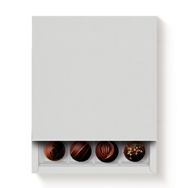 Caixa 16 Doces Quadrada Branco com Luva - 10 unidades - 16,8x16,8x4cm - Cromus Profissional - Rizzo Confeitaria