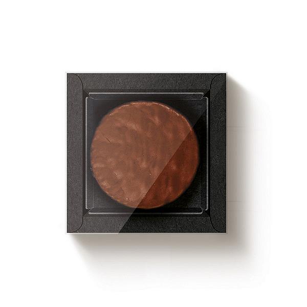 Caixa 1 Pão de Mel Quadrada Preto com Luva - 10 unidades - 9x9x4cm - Cromus Profissional