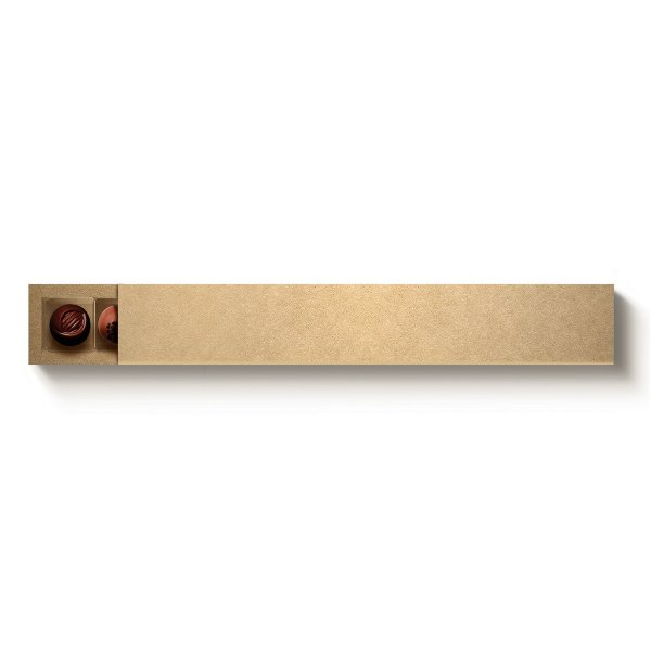 Caixa 10 Doces Retangular Kraft com Luva - 10 unidades - 39x6x4cm - Cromus Profissional