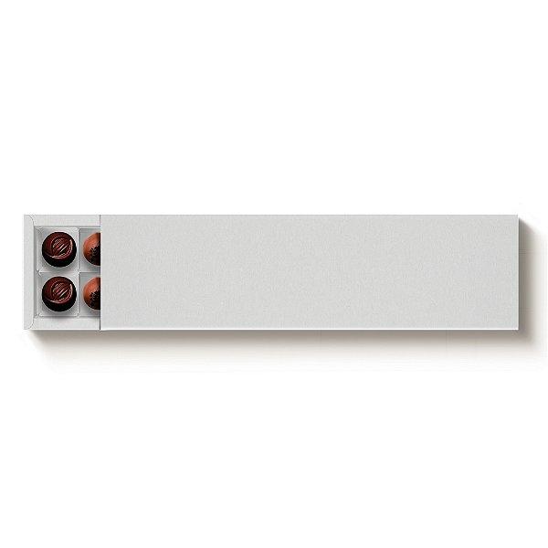 Caixa 20 Doces Retangular Branco com Luva - 10 unidades - 39x9,5x4cm - Cromus Profissional