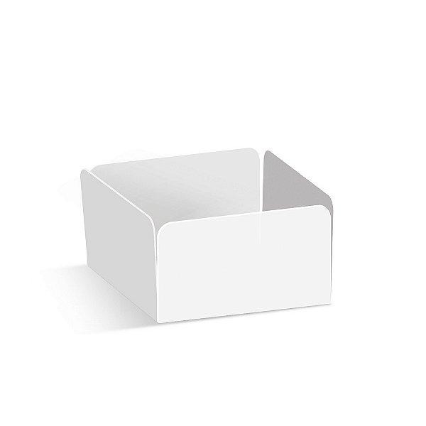 Forminha Reta para Pão de Mel Branco  - 100 unidades - 7,3x7,3x3,5cm - Cromus Profissional - Rizzo Confeitaria