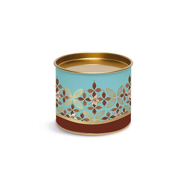 Lata para Bombons Azul e Dourado Linha Chocolate - 10x10x7cm - Cromus Páscoa - Rizzo Confeitaria