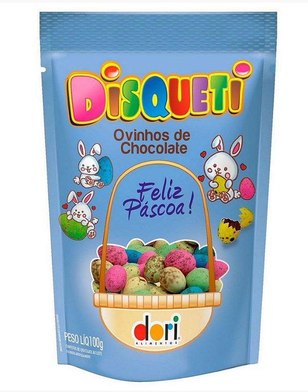 Ovinhos de Chocolate Coloridos ao Leite Disqueti  100g - Dori - Páscoa - Rizzo Confeitaria