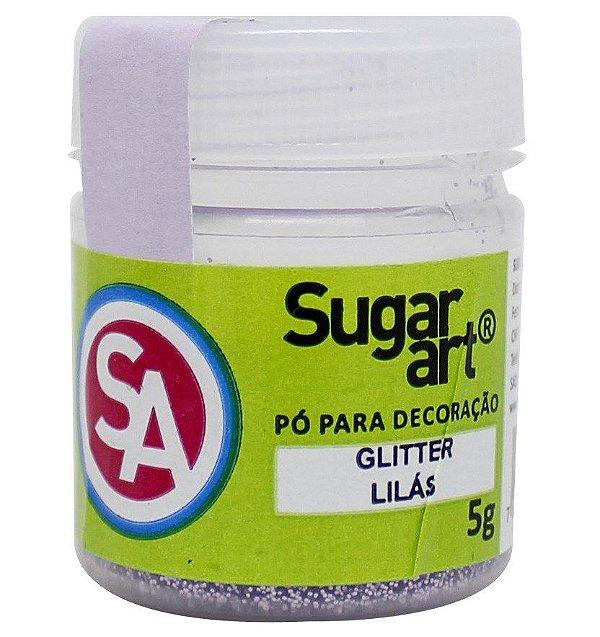 Pó para Decoração Glitter Lilás 5g Sugar Art Rizzo Confeitaria