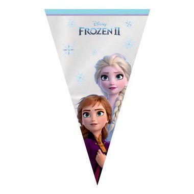 Cone Festa Frozen 18x30cm - 50 unidades - Cromus - Rizzo Confeitaria