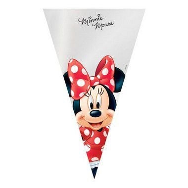 Cone Festa Minnie 18x30cm - 50 unidades - Cromus Páscoa Disney - Rizzo Confeitaria