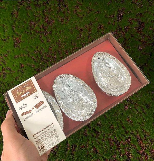 Kit Caixa Vermelha com 3 Casquinhas Chocolate 60g ao Leite Sicao - APENAS RETIRADA PESSOALMENTE - 1 unidade - Cromus Sicao Rizzo Confeitaria