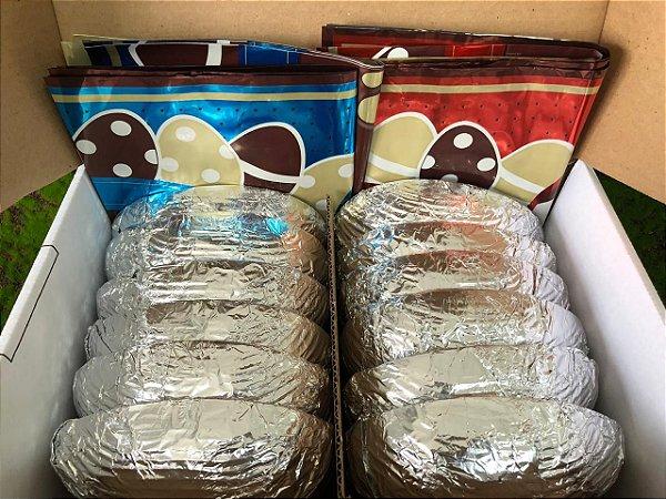 Kit 6 Ovos de Páscoa 350g com Express e Laço Pronto - APENAS RETIRADA PESSOALMENTE - Cromus Sicao Rizzo Confeitaria