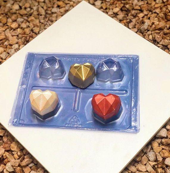 Forma Especial Coração Lapidado- Cod: 03 Porto Formas Rizzo Confeitaria