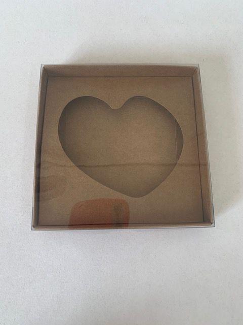 Caixa Coração Frito Kraft 12x12x2 c/ 10 und Rizzo Confeitaria