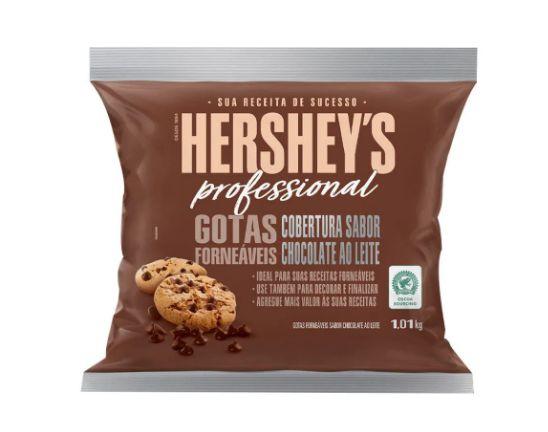Gotas de Chocolate Forneáveis Cobertura Ao leite 1,01kg Hershey's Professional