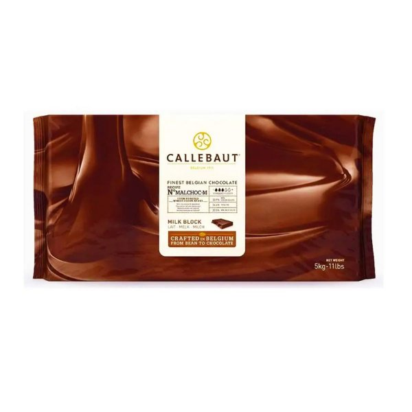 Chocolate Belga Ao Leite Malchoc Callebaut 5kg - Rizzo Confeitaria