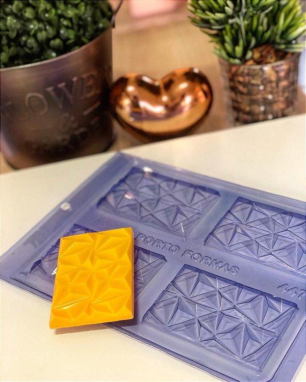 Forma de Acetato Tablete 3D Porto Formas Ref 447 Rizzo Confeitaria