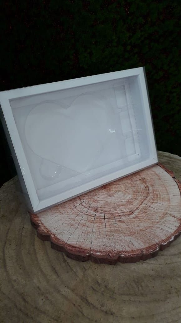 Caixa Coração plano G Branca com 5 un. Crystal Rizzo Confeitaria