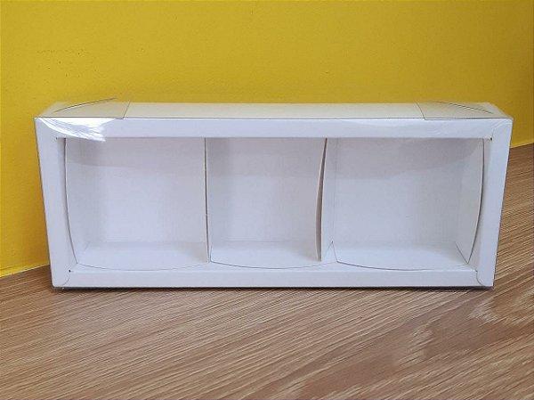 Caixa  3 pão de mel Branca  6,2x19x4  5 un - Assk Rizzo Confeitaria