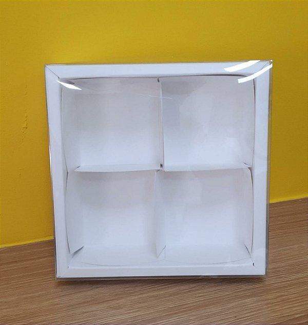 Caixa  4 pão de mel Branca13,2x13,2x4  6,2x19x4  5 un - Assk Rizzo Confeitaria