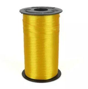 Fita de Cetim Carretel Progresso 6mm nº01 - 100m Cor 038 Amarelo Ouro - 01 unidade - Rizzo Embalagens