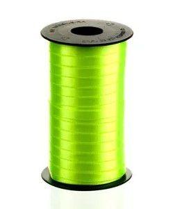 Fita de Cetim Carretel Progresso 6mm nº01 - 100m Cor 280 Verde Cítrico - 01 unidade - Rizzo Embalagens