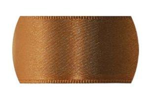 Fita de Cetim Progresso 15mm nº3 - 10m Cor 043 Marrom Dourado - 01 unidade - Rizzo Embalagens