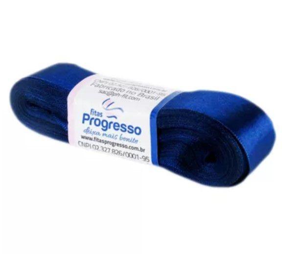 Fita de Cetim Progresso 22mm nº5 - 10m Cor 215 Azul Marinho - 01 unidade