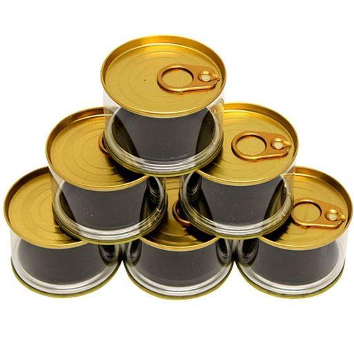 Enfeite Plástico Lata Baixa Tipo Atum - Dourado - 6 Unidades - Art Lille - Rizzo Confeitaria