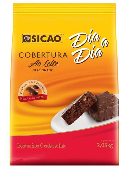 Cobertura Ao Leite Fracionado - 2,05 kg - Sicao - Rizzo Confeitaria