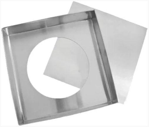Forma de Alumínio Quadrada Fundo Falso - 20x20x10cm - Ref:7051 - Macedo - Rizzo Confeitaria