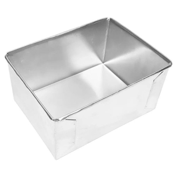 Forma de Aluminio Retangular  - 25x17x10cm - Ref:8004 - Macedo - Rizzo Confeitaria