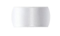 Fita de Cetim  para personalizar Progresso Crie sua Fita -  CFS002 Branca 10mm c/50mts  Rizzo Confeitaria