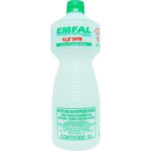 Álcool de Cereais 1 litro Emfal Rizzo Confeitaria