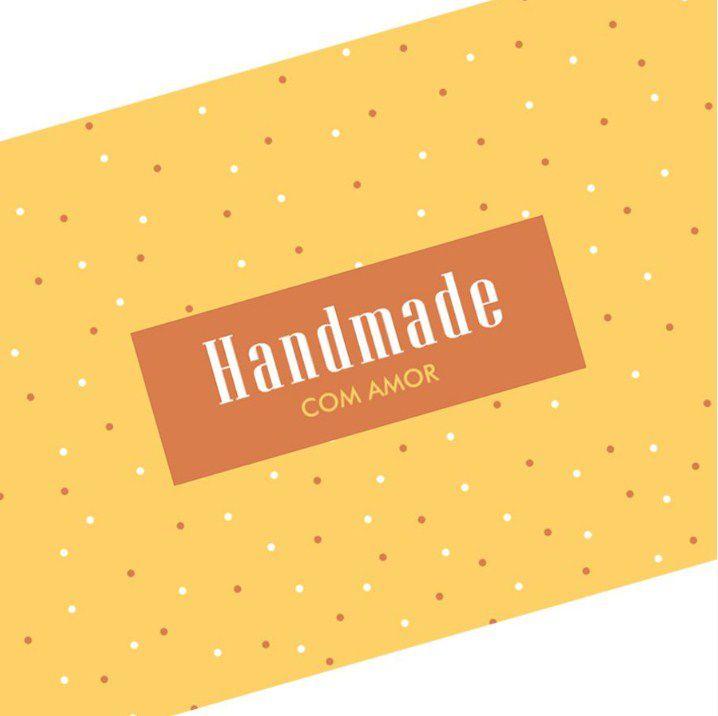Tira Decorativa Handmade com Amor - Tam P / M / G - 5 unidades - Rizzo Confeitaria