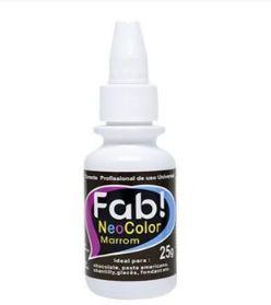 Corante Profissional Neo Color - Marrom - 25g - FAB - Rizzo Confeitaria