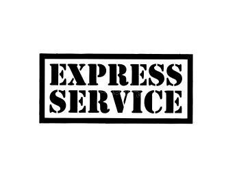 Carimbo Artesanal Express Service - M - 6,0x2,7cm - Cod.RI-046 - Rizzo Confeitaria