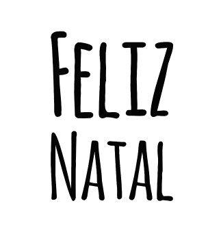 Carimbo Artesanal Feliz Natal - G - 4,7x7,0cm - Cod.RI-040 - Rizzo Confeitaria