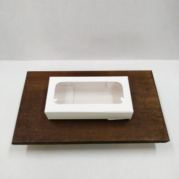 Caixa Envelope Tablete - Branco - 8 Gomos -10 unidades - Crystal - Rizzo Confeitaria